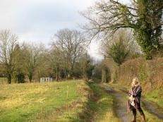 Chloé out walking