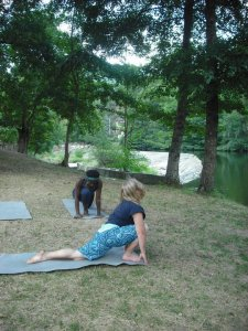 Yoga down by the river