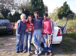 Brigitte and some Wwoofers