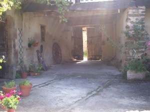 Courtyard entrance from inside