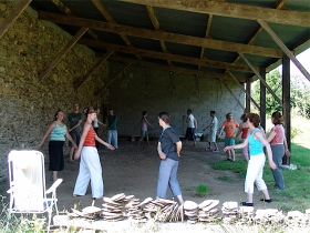 Qi Gong in the open barn