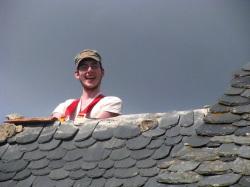 Matt on a hot tin roof