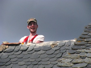Matt on a hot tin roof