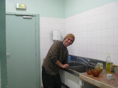 Dave washing up